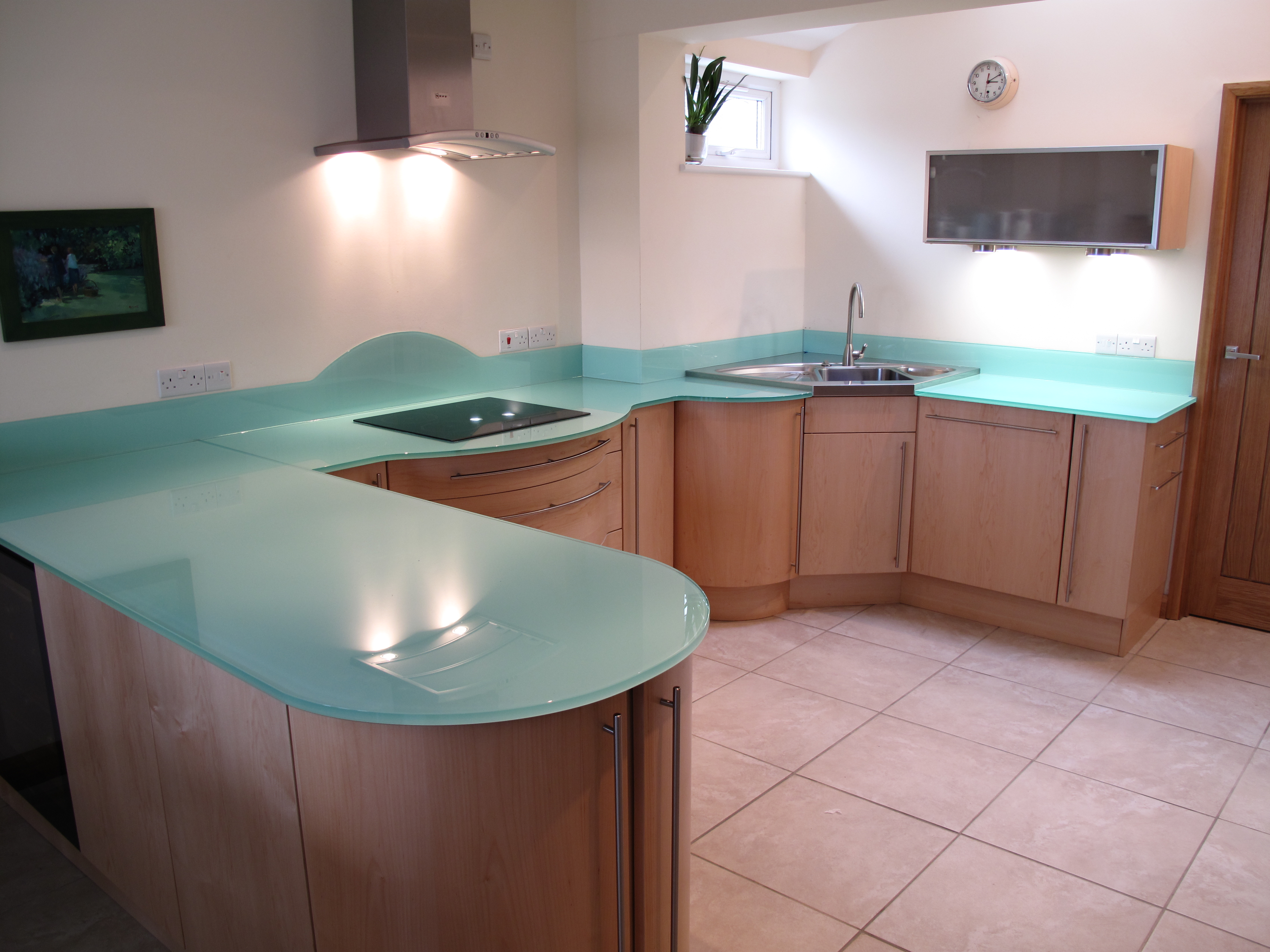 glass benchtop