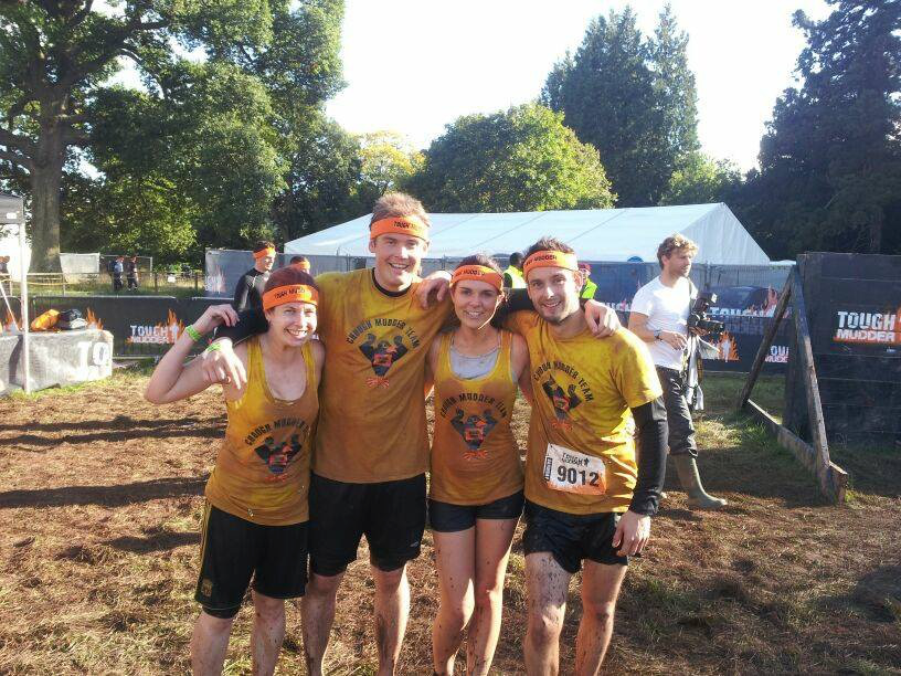 four tough mudder competitors