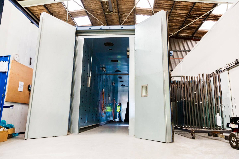 workshop white doorway