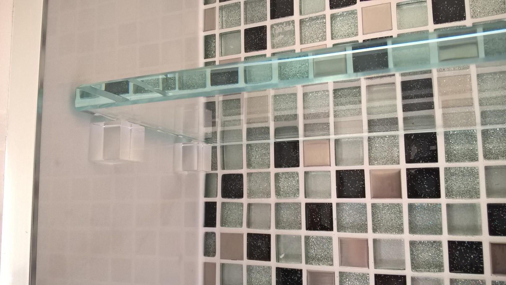 glass shelf close up