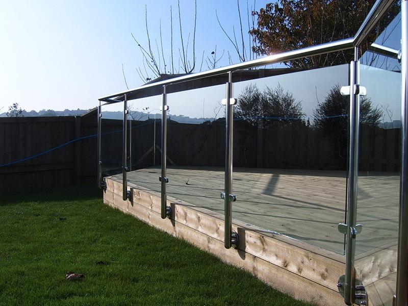grass and backyard deck