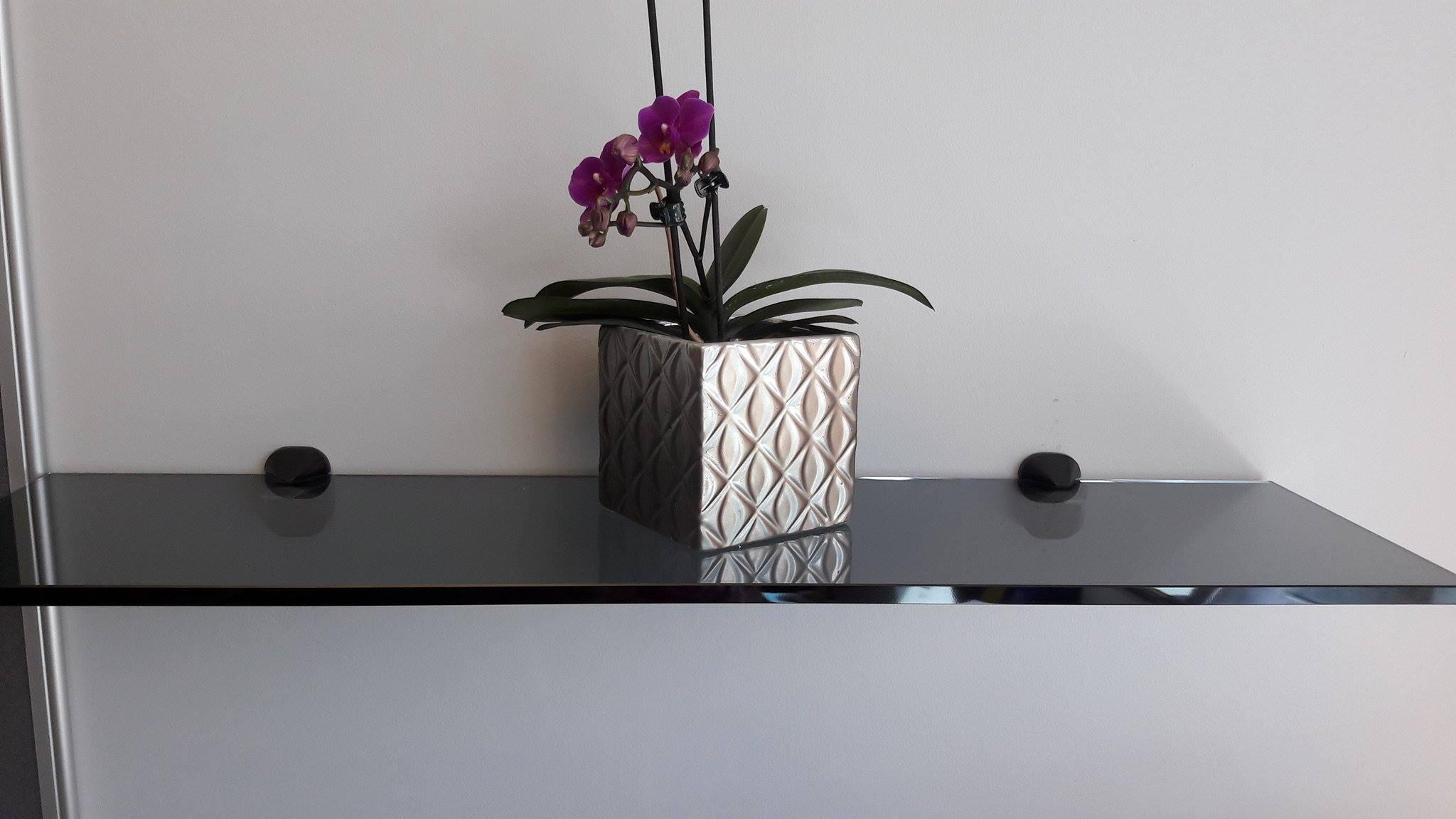 vase on shelf