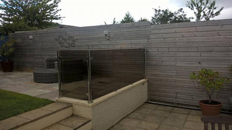 tinted glass balustrade backyard
