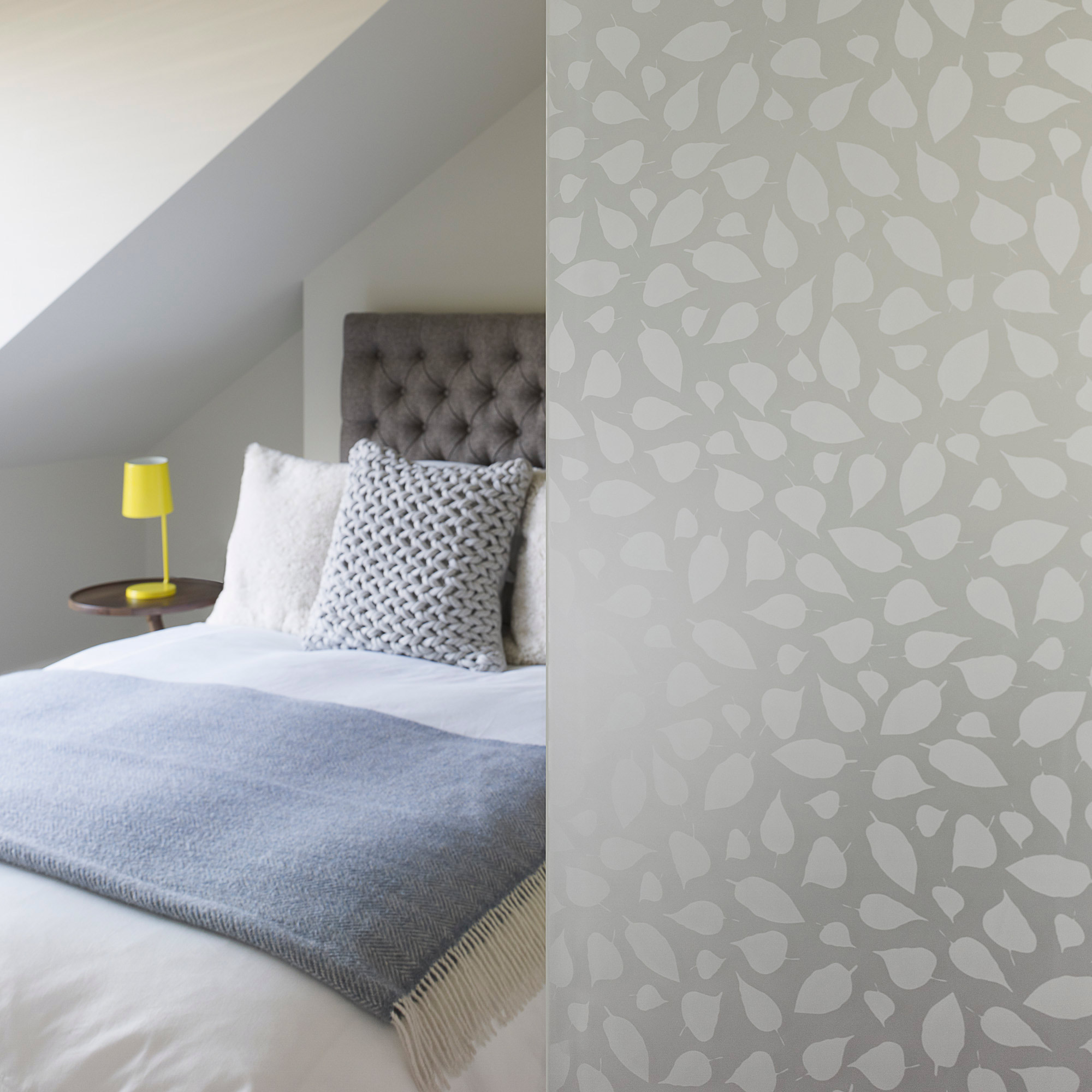 frosted glass in bedroom