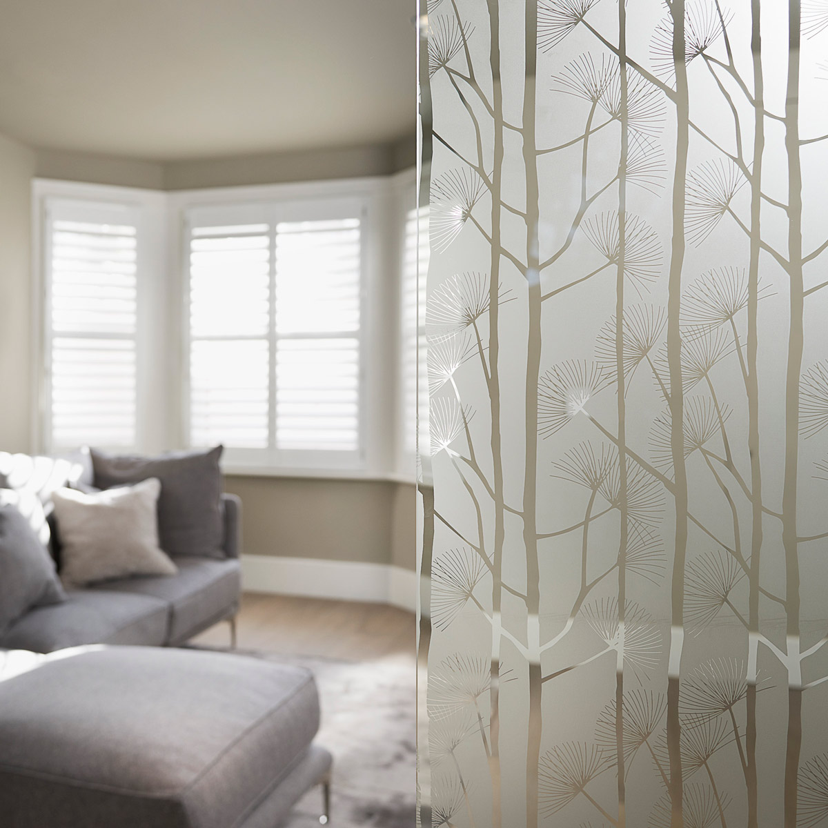 frosted glass and lounge