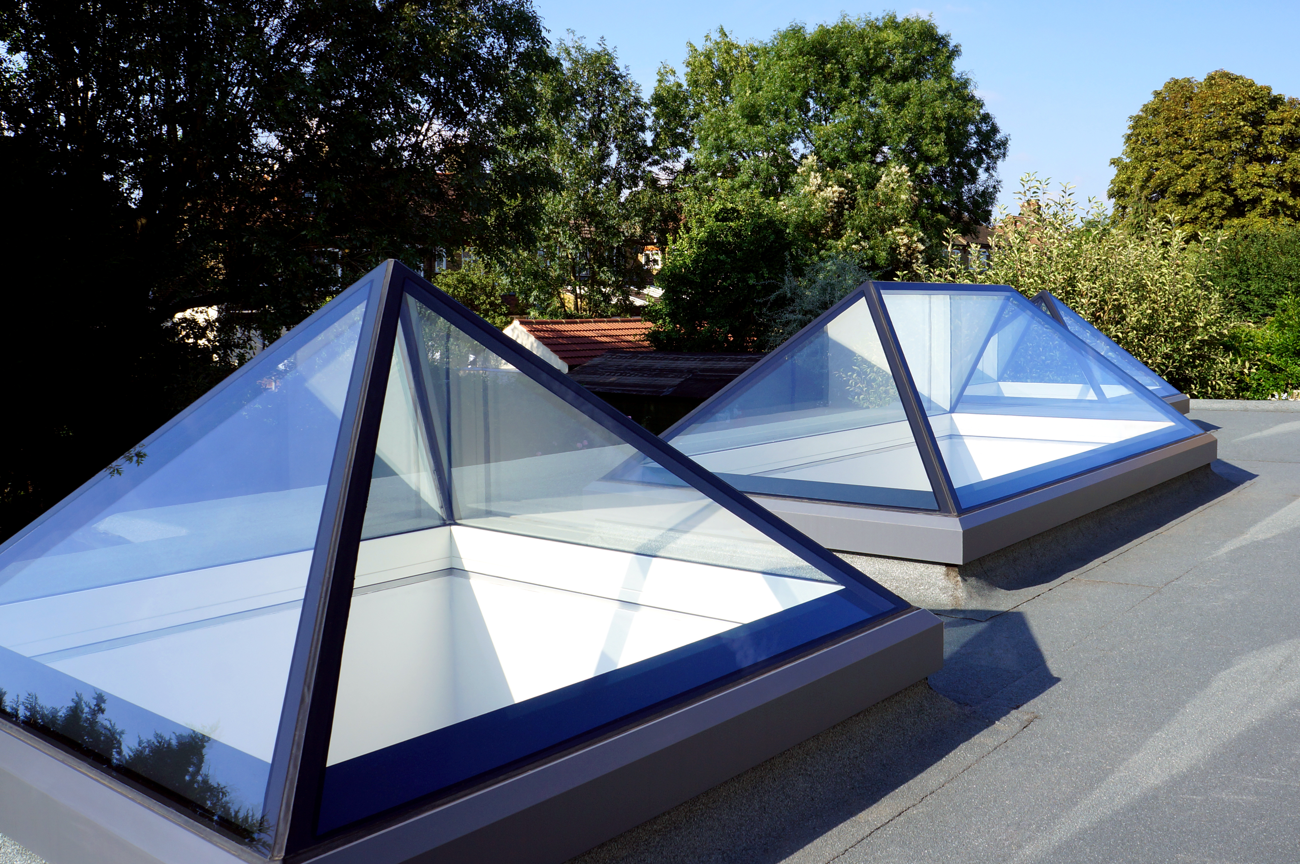 rooftop pyramid skylights