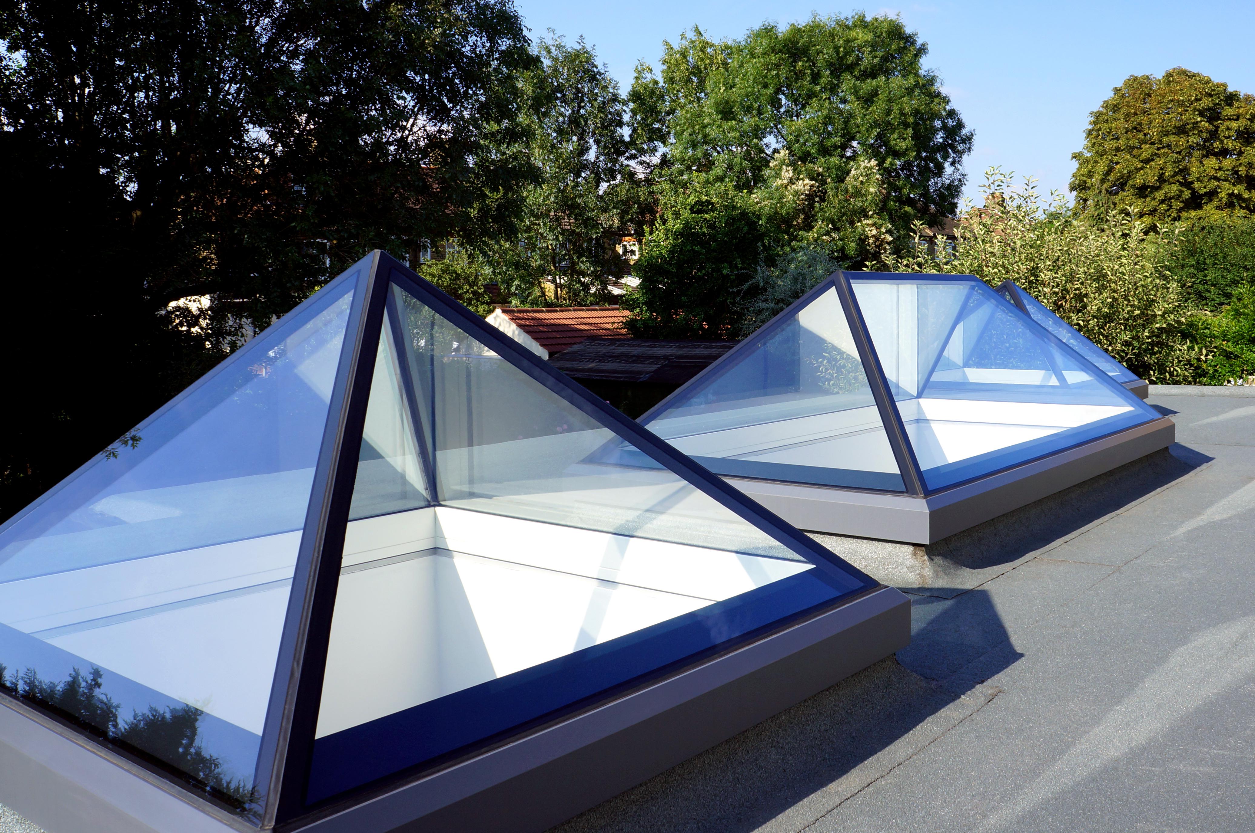rooftop pyramid skylights