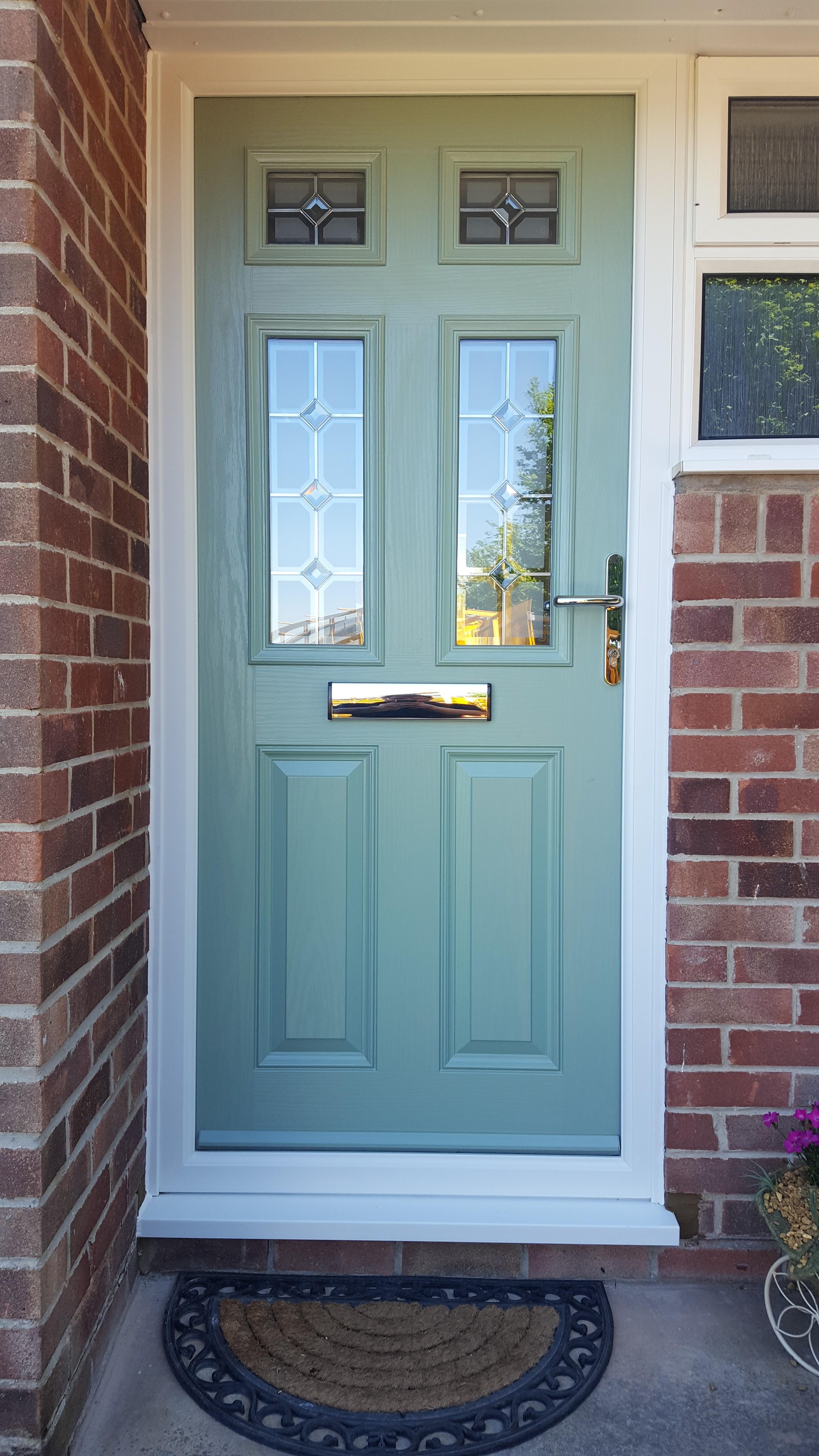 Composite Door with Glass Units