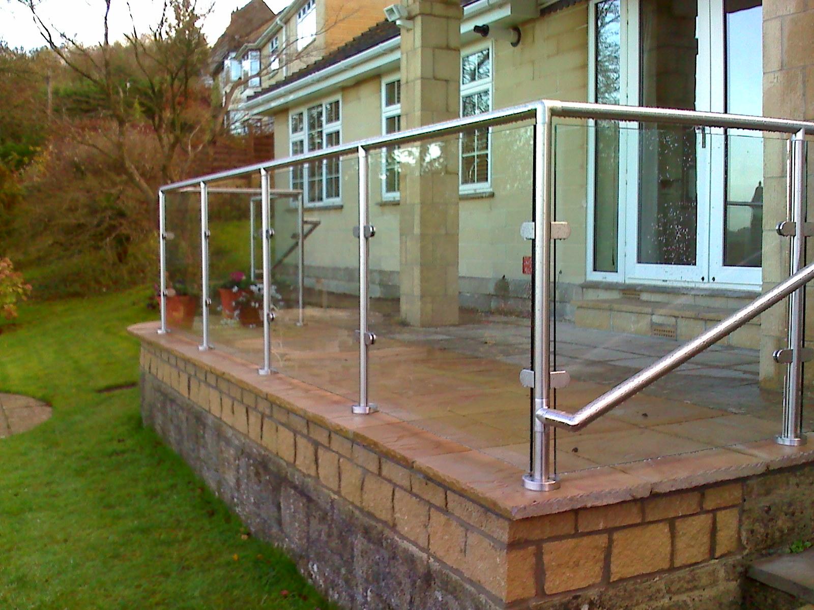 External Glass Balustrade with rail