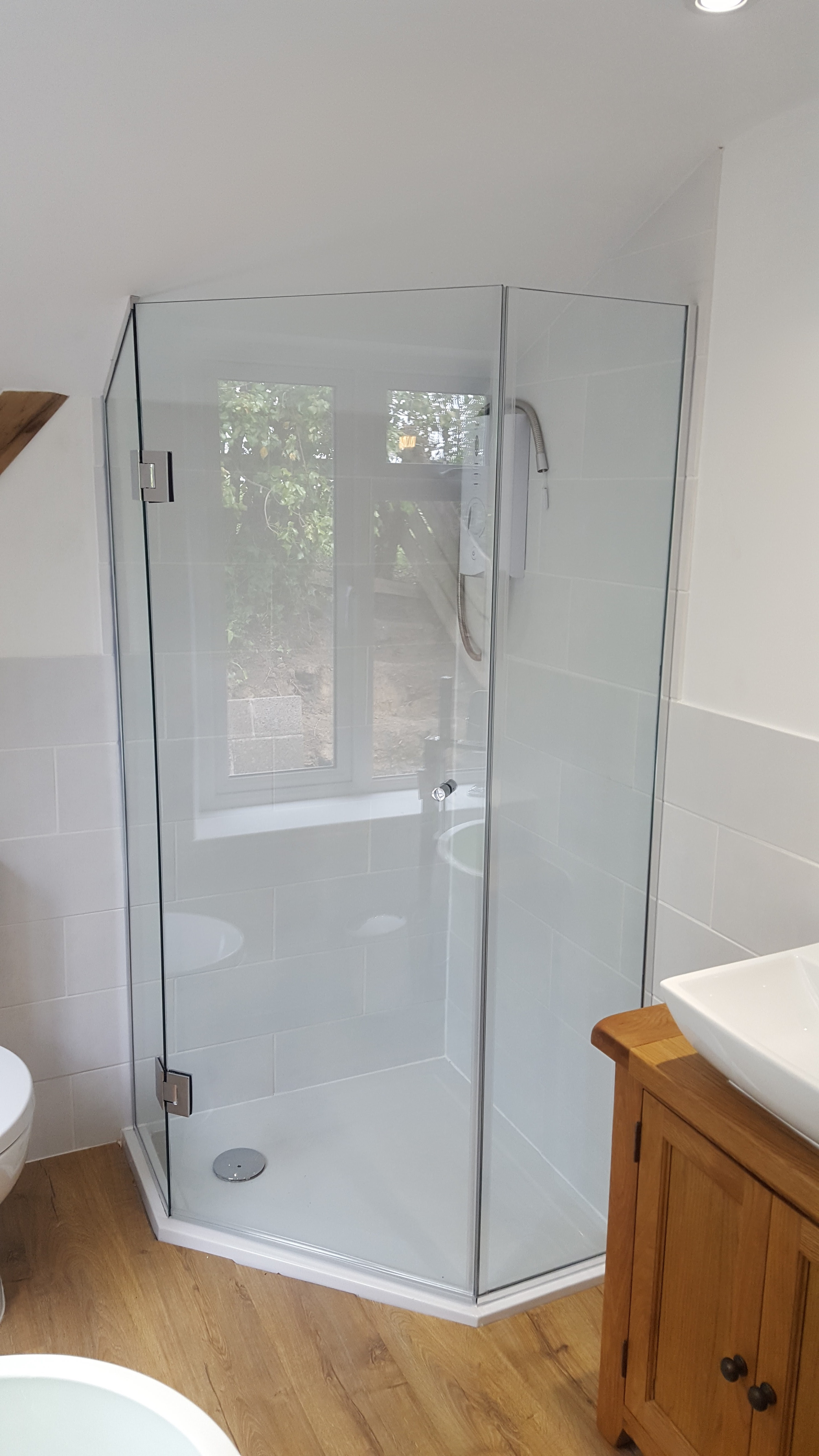 3 sided shower - Cornwall Glass