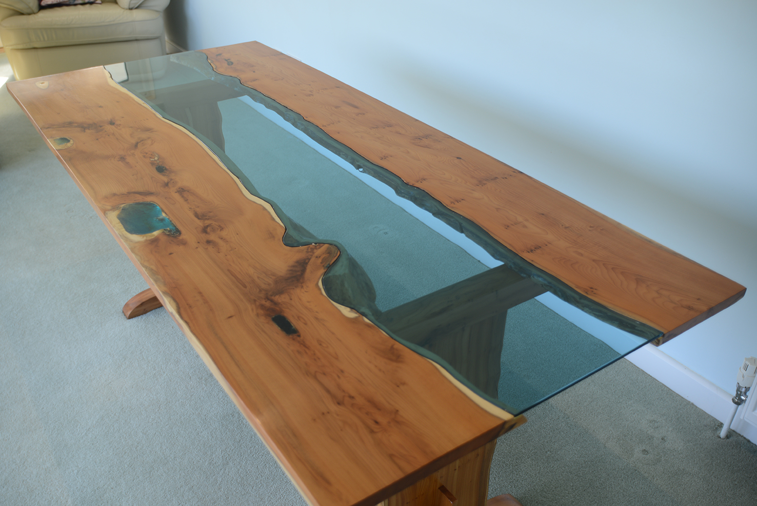 Bespoke Tinted Glass Table Top