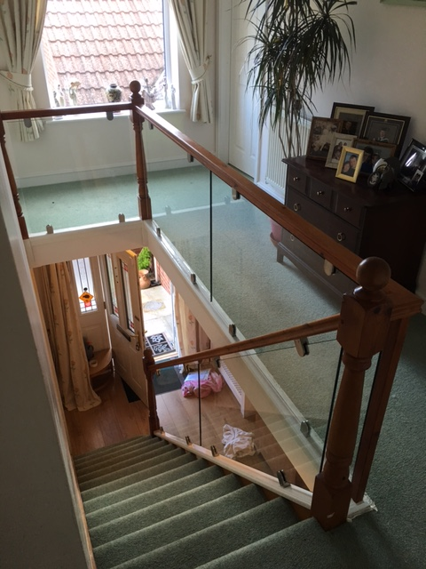 Internal Stairs Glass Balustrade