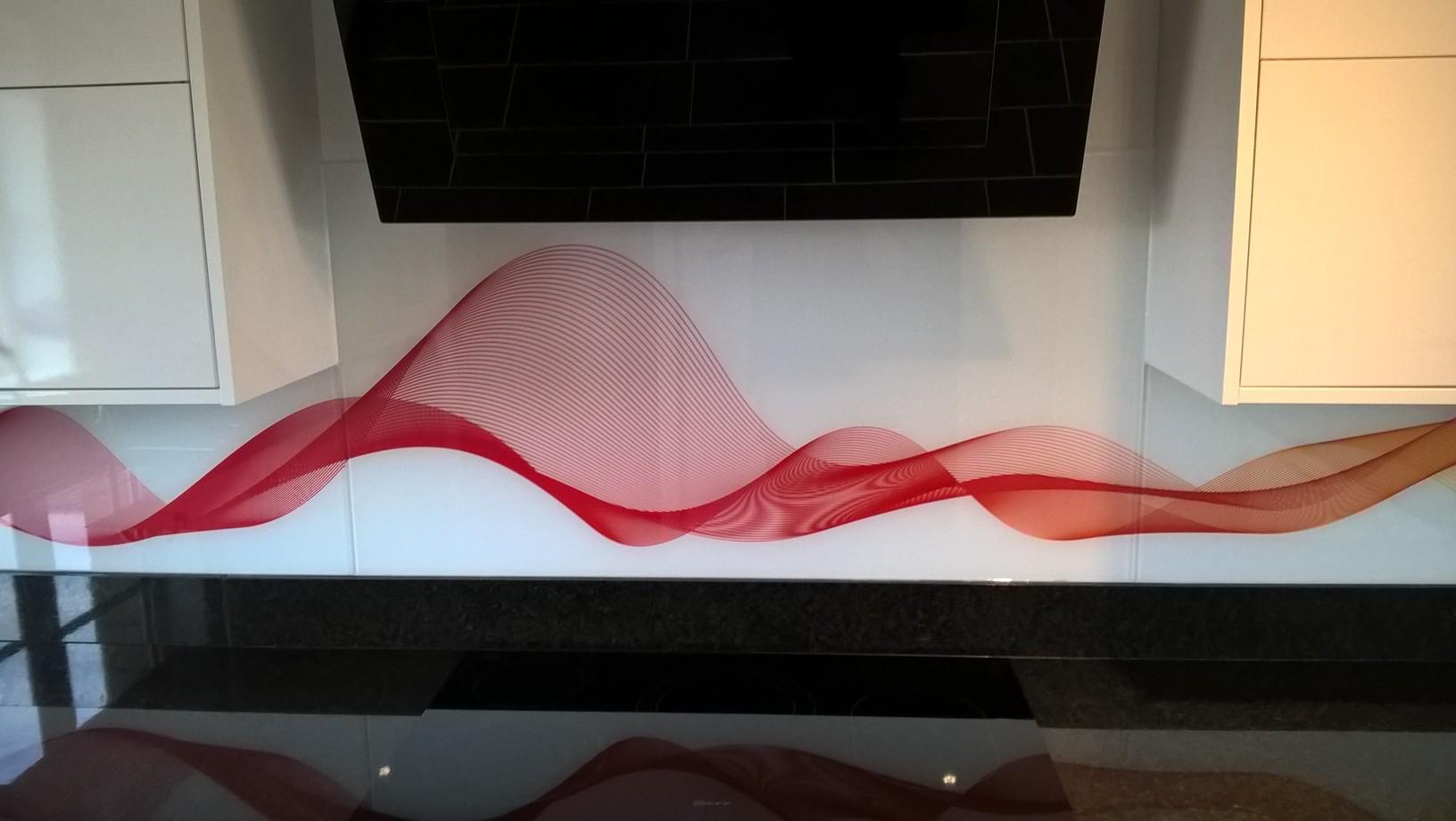 Contemporary Glass Splashback