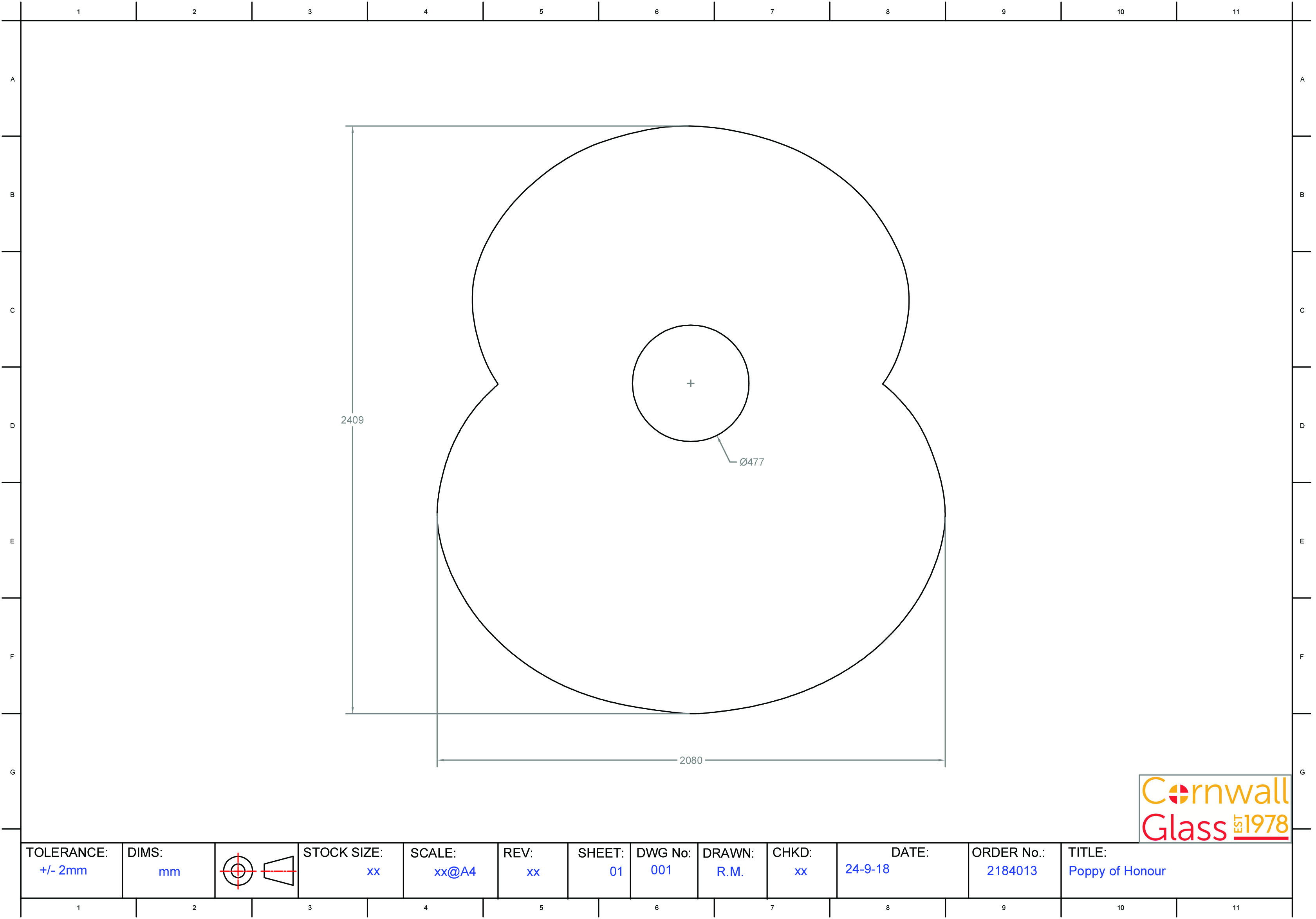 Poppy A4 Template CAD
