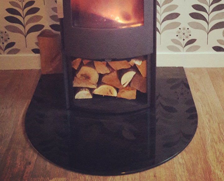 painted fire hearth