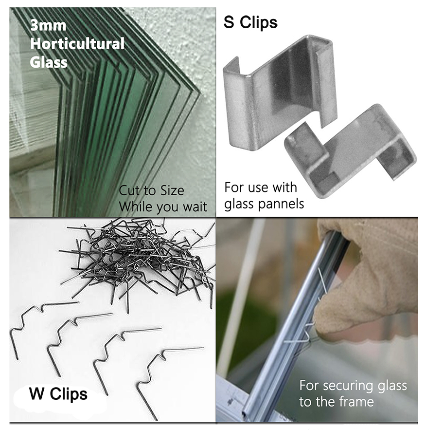 Greenhouse Glass and Clips
