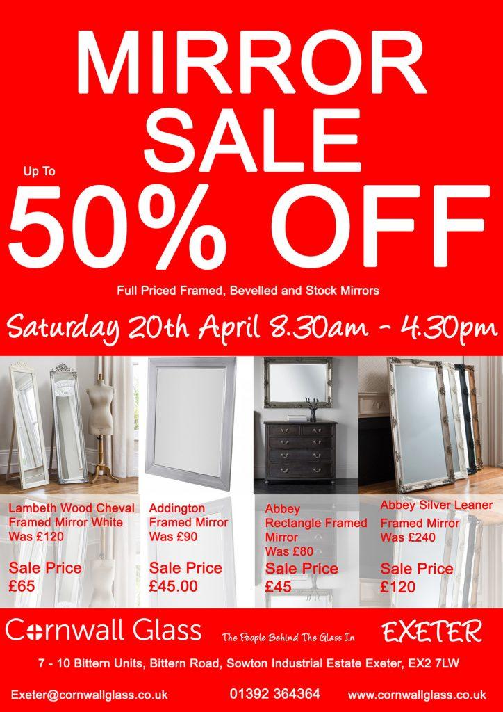50% Off Mirror Sale