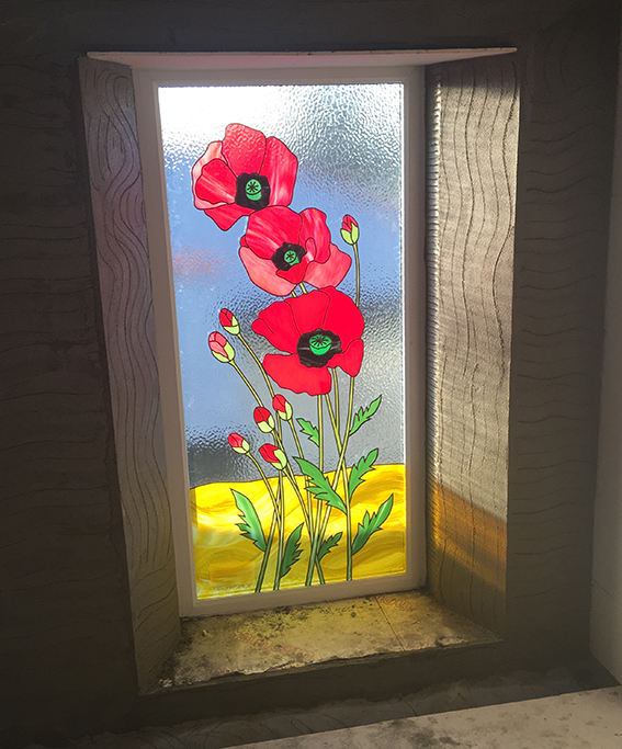 Poppy Window Glass