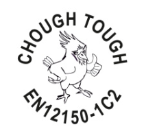 Chough Tough Round Logo Stamp