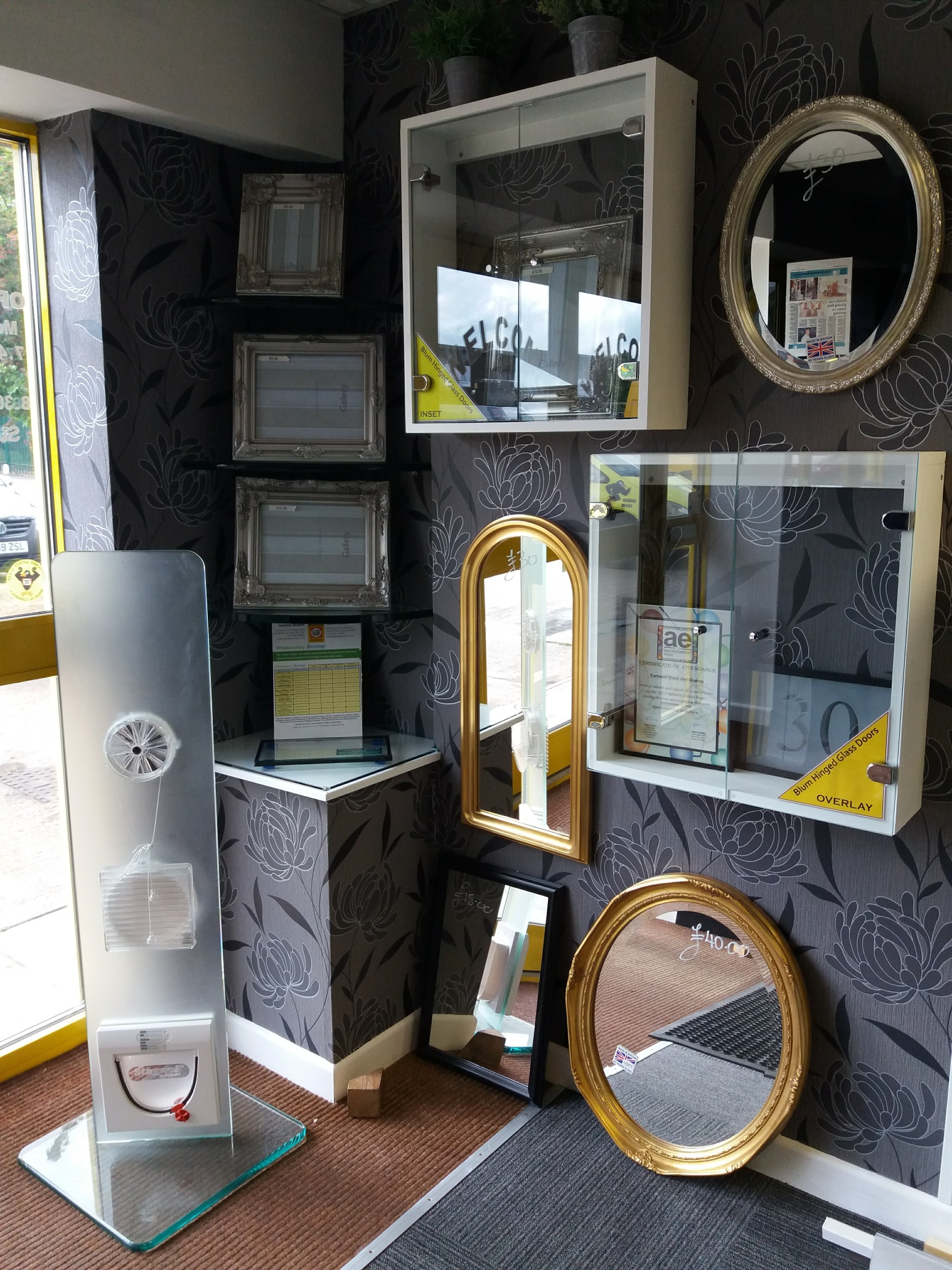Exeter Showroom Mirrors