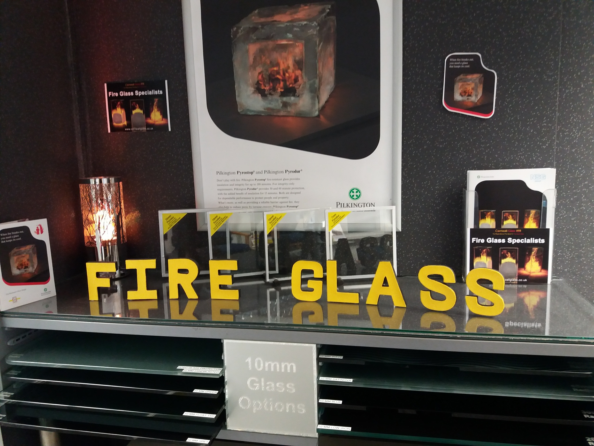 Exeter Fire Glass
