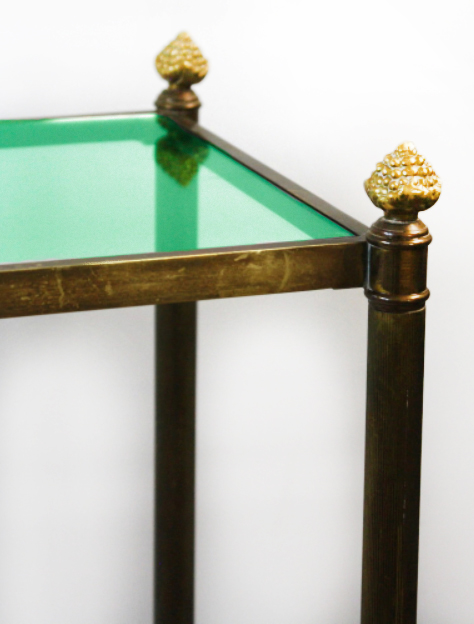 Console table glass top