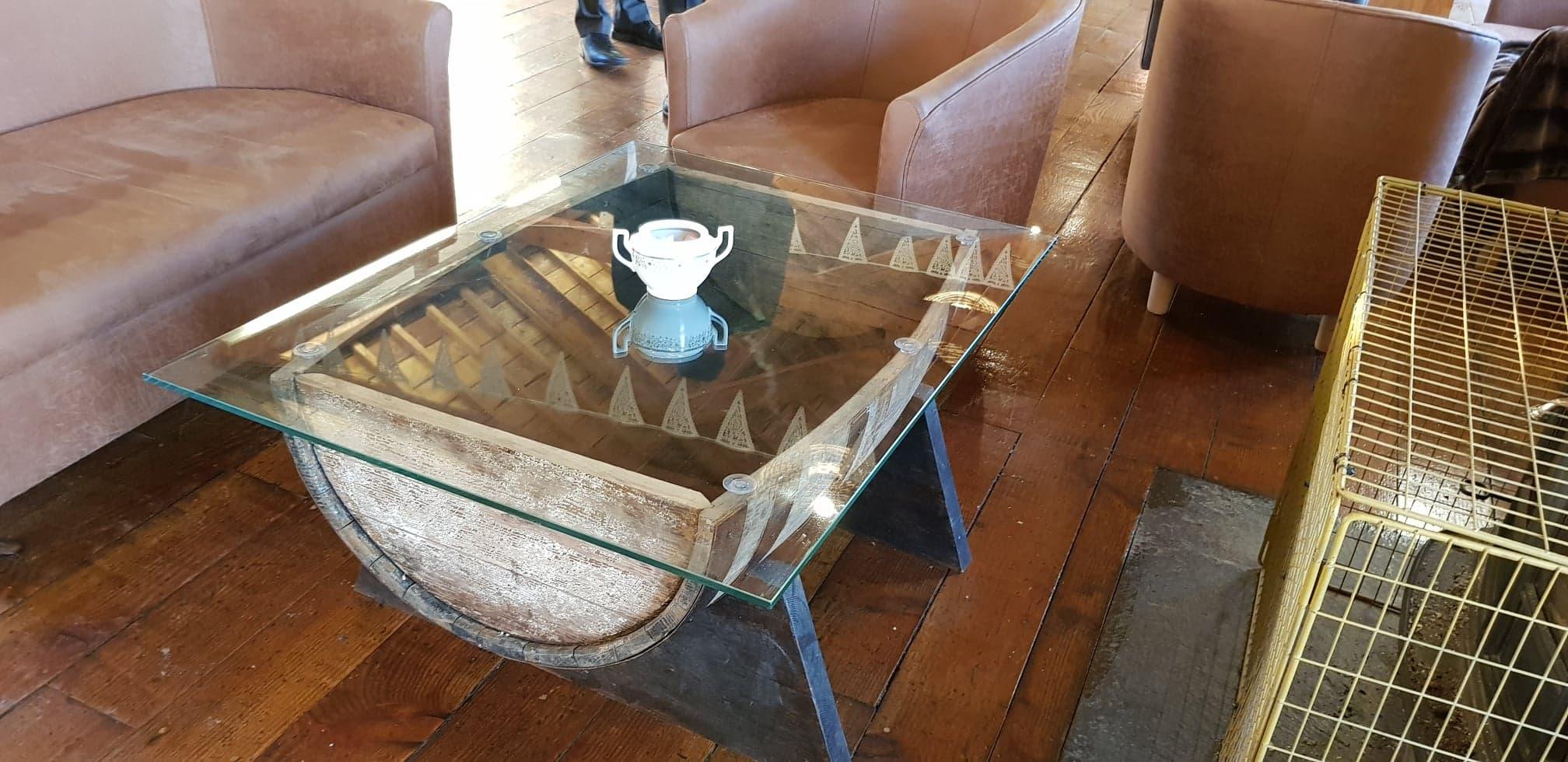 Half Barrel Table Top