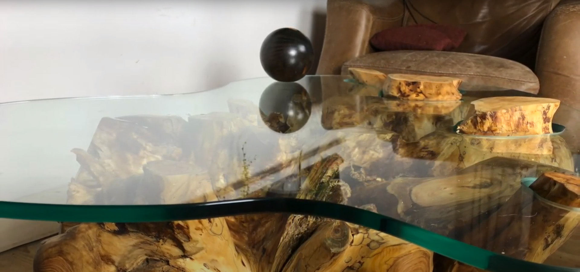 Tree Root and Glass Coffee Table 1