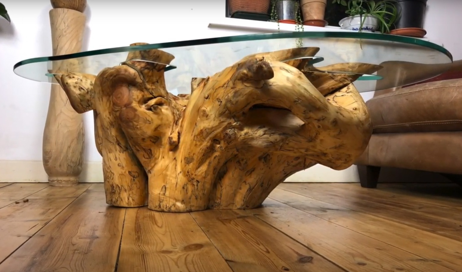 Tree Root and Glass Coffee Table 2
